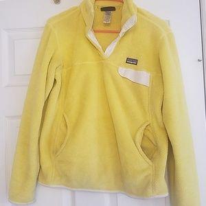 Patagonia womens retool yellow fleece pullover